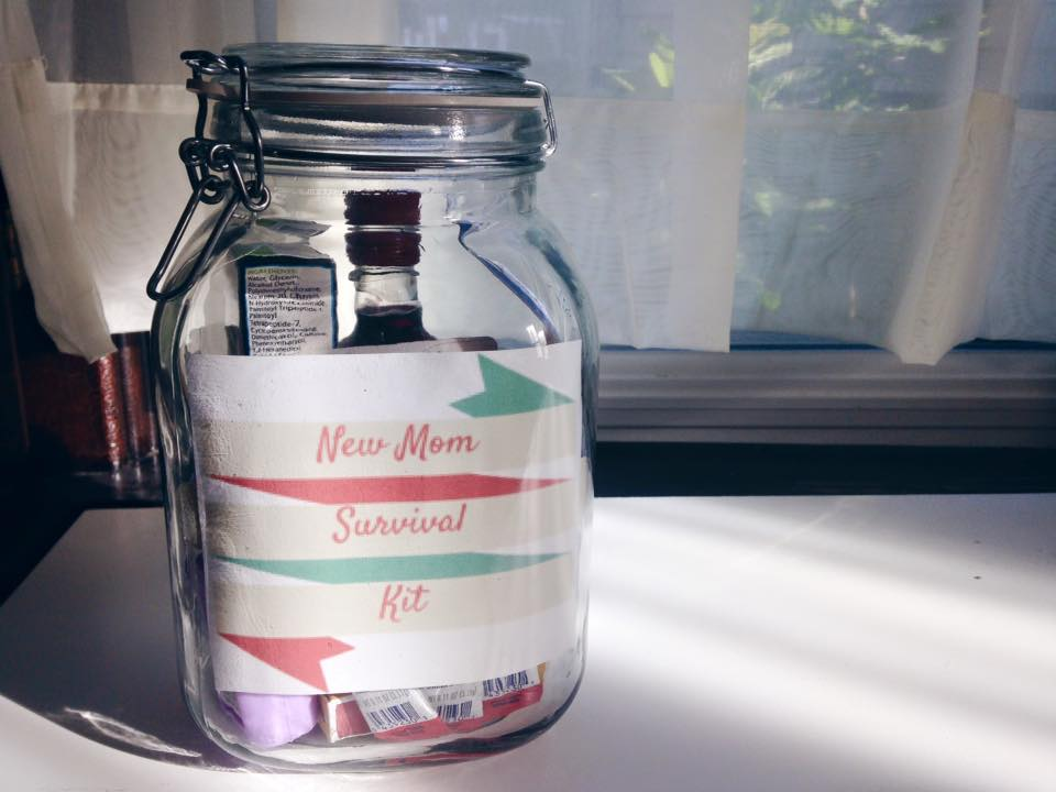 """diy baby shower gift """"new mom survival kit""""  home is where the, Baby shower invitation"""